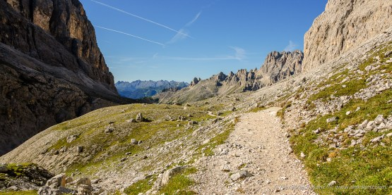 On the trail again -- Vajolet Valley, Rosengarten, South Tyrol, Italy