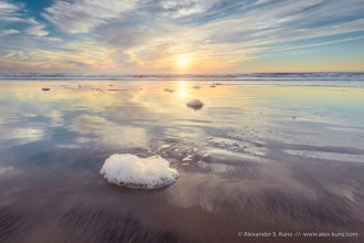 Foamy Sunset -- Seaside Beach, Cardiff By The Sea, California, United States