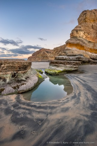 Flat Rock at Low Tide 1 -- Torrey Pines State Beach, San Diego, California, United States