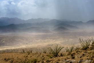Jacumba Mountains Rain -- Mine Peak, Anza Borrego Desert/Coyote Mount, California, United States