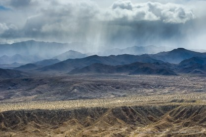 Jacumba Mountains Rain II -- Mine Peak, Anza Borrego Desert/Coyote Mount, California, United States