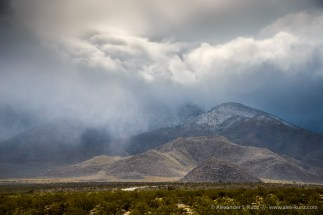 Downpour over Oriflamme Mountain -- Mason Valley, San Diego County, California, United States