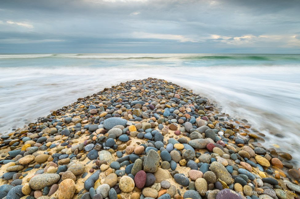 Pebble Wedge -- Seaside State Beach, Solana Beach, California