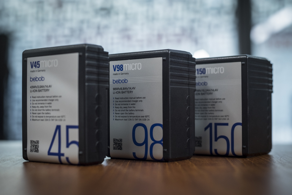 The Bebob V45Micro, V98Micro and V150Micro batteries