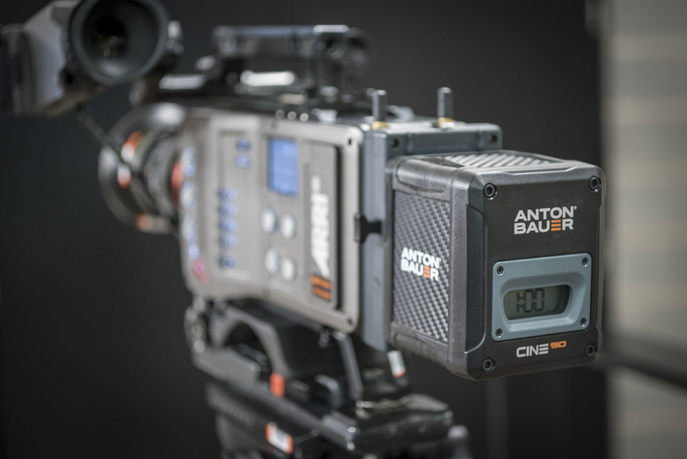 Anton Bauer Cine 90 being tested on the Arri Amira