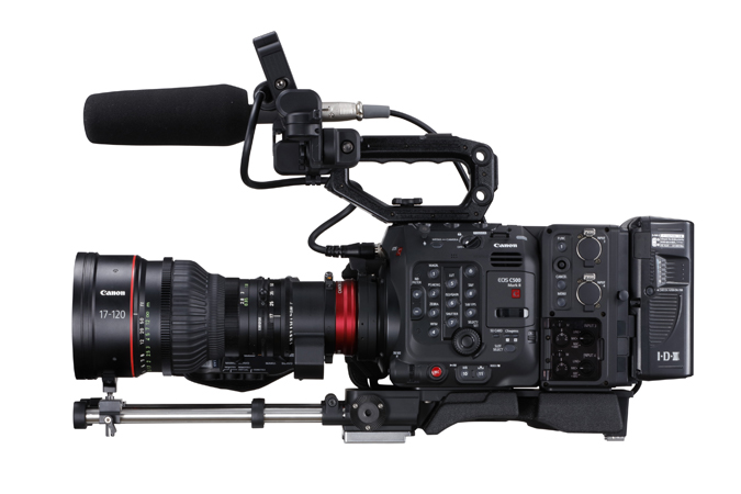 Canon C500 Mark II with EU-V2 extension Unit