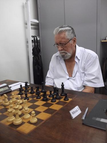 """Fortunato de Medeiros Garcia, federado pela AABB, está na Classe """"C"""" com 1382 pontos de rating."""