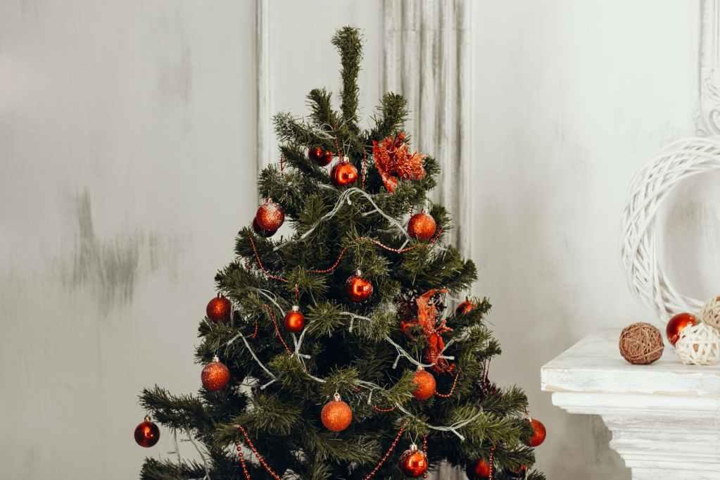 The Christmas holiday tag.
