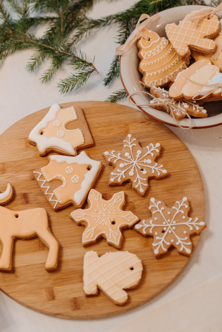 christmas cookies on the table