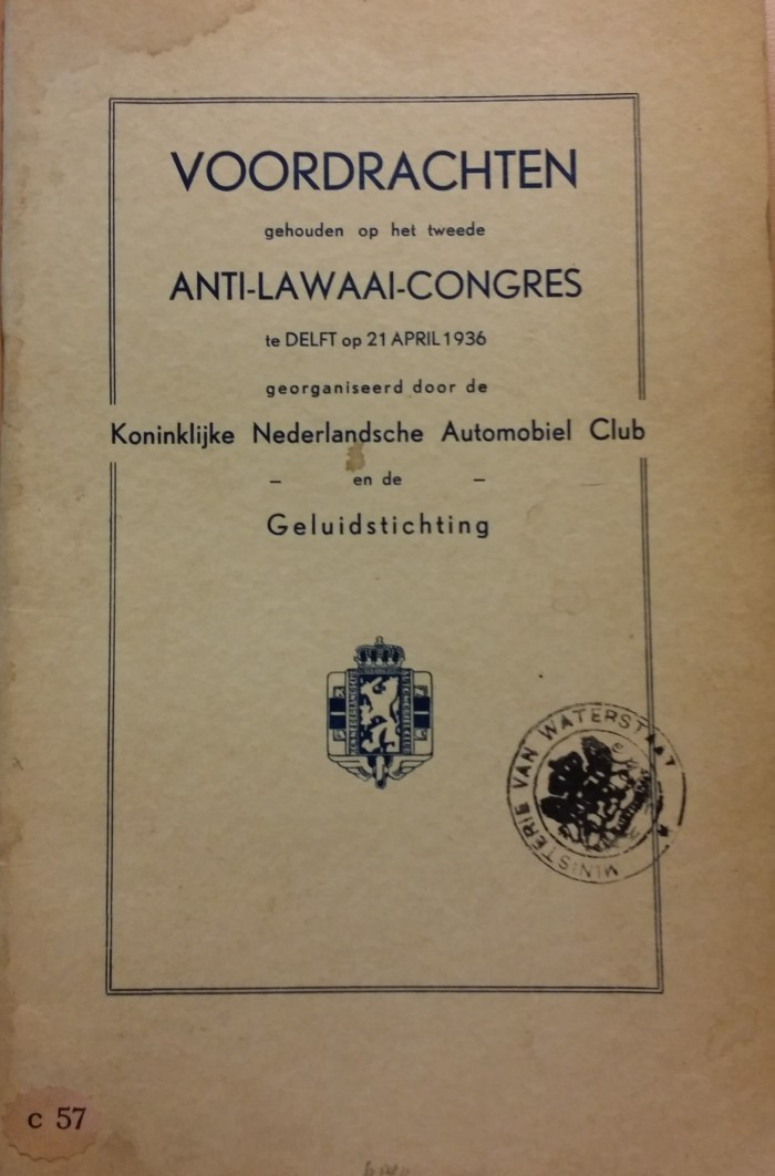 Omslag Anti-Lawaai-Congres