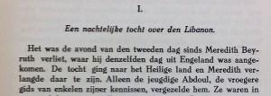 Nederlandse uitgave (1923), begin hoofdstuk 1