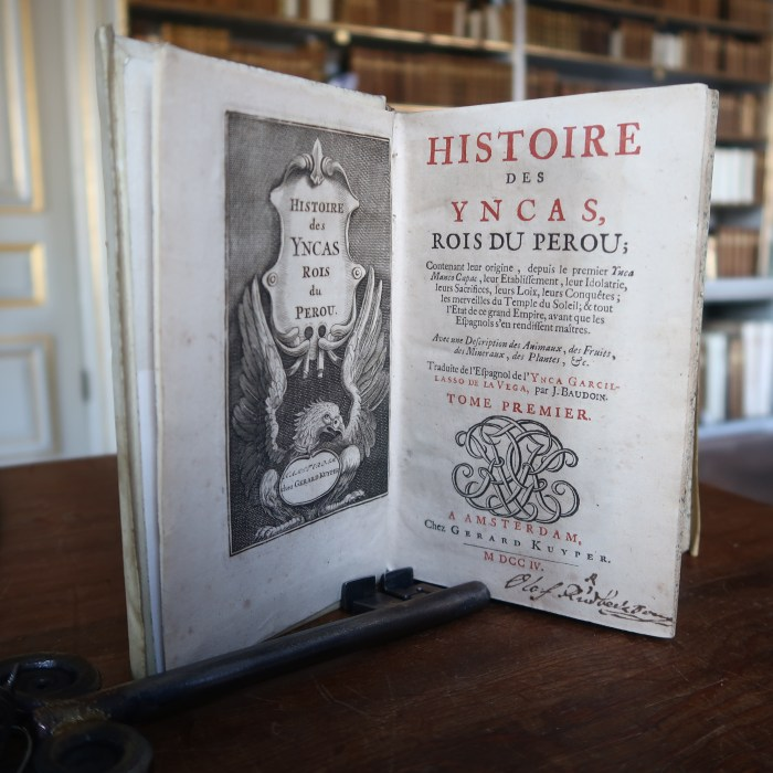 Histoire des Yncas.