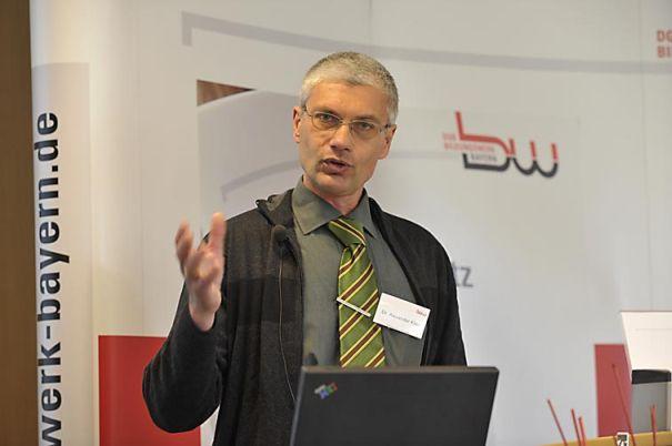 Vortrag von Alexander Klier während eines Kongresses des DGB Bildungswerk Bayern.