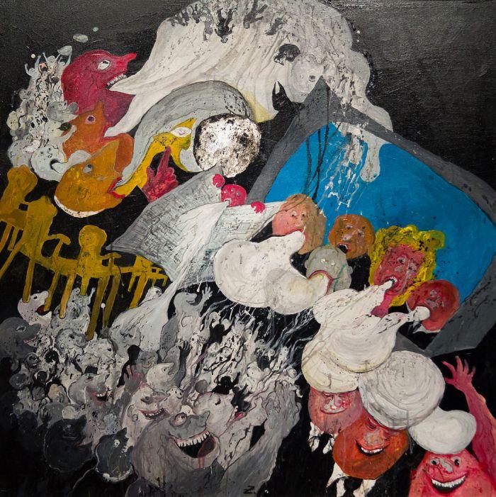 Ausstellung Guido Zingerl (Das goldene Kalb) - Das große Blabla