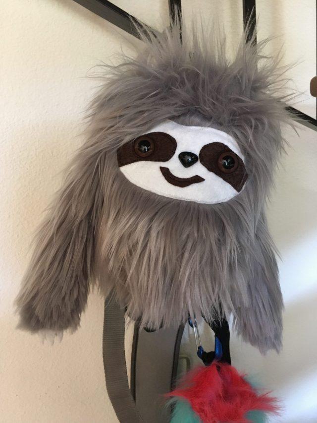 """Gaston"", the sloth chalk bag!"