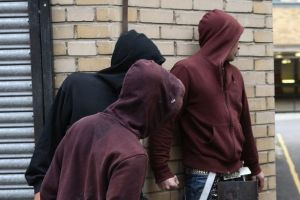 Hooded youths