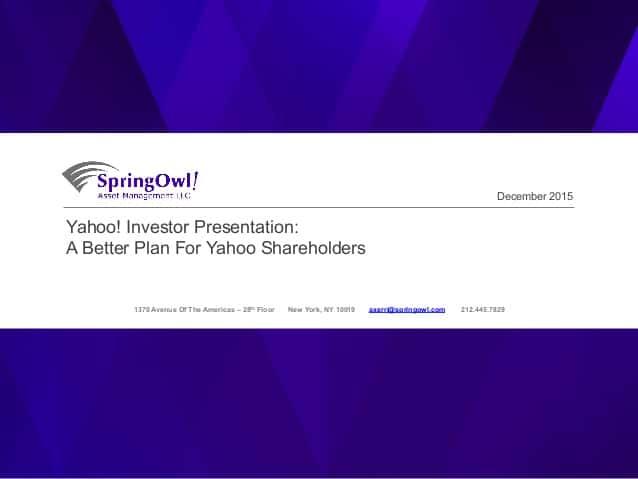 springowl yahoo! presentation fund