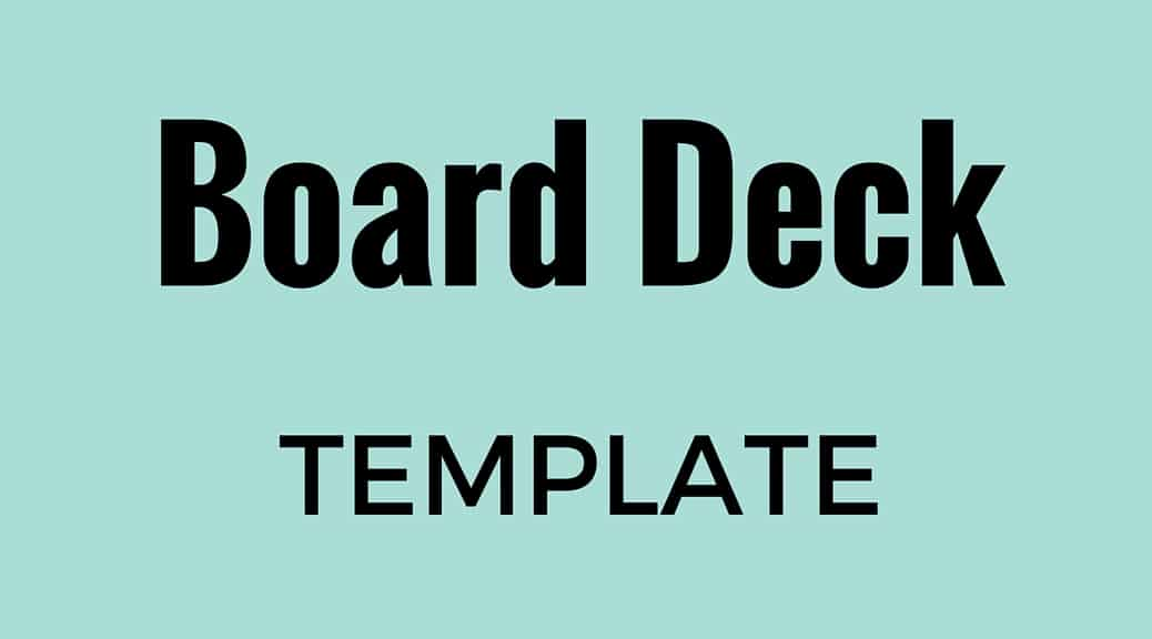 board deck template