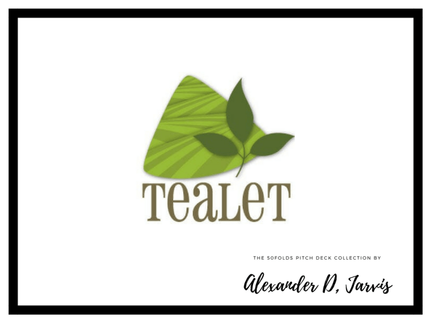 tealet-pitch-deck Raise Pitch deck example ecommerce