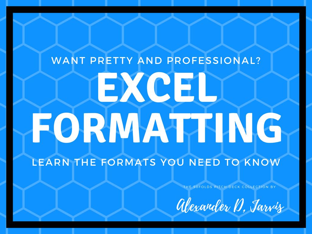 Excel custom format cover