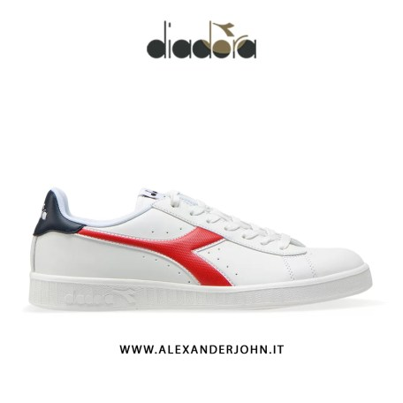 DIAODORA UOMO GAME P BIANCO WHITE ROSSO RED BLUE BLU PELLE SINTETICA ALEXANDERJOHN.IT ALEXANDER JOHN SHOES SCARPE CALZATURE CASUAL INVERNO 2019 WINTER COLLECTION 19 FW 19 20 FALL WINTER OUTLET SNEACKERS MAN LOW PRICE SCONTI BLACK FRIDAY BLACK WEEKEND