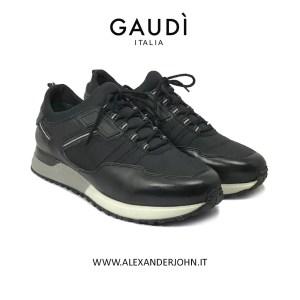 GAUDI UOMO 2019 INVERNO PELLE NERO LEATHER BLACK OUTLET LOW PRICE BLACK FRIDAY V91-66532 ALEXANDER JOHN SHOES ALEXANDERJOHN.IT
