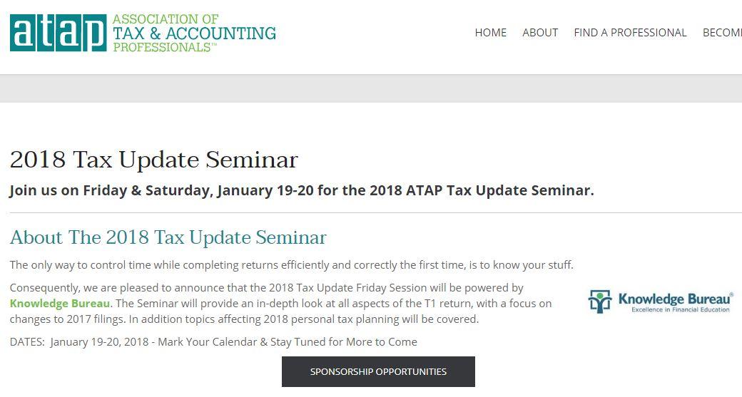 2018 Tax Update Seminar