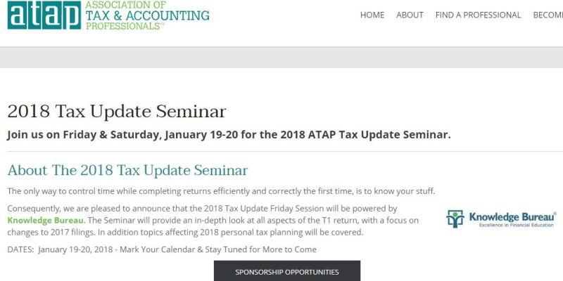Tax Update Seminar 2018