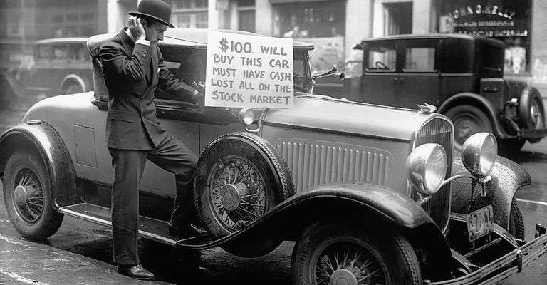 После краха фондового рынка в 1929 году. Нью-Йорк, США.