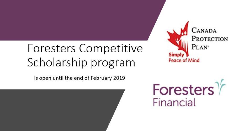 Принимаются заявки на стипендию от Foresters.