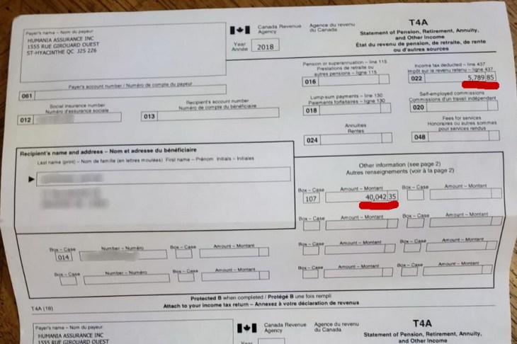 Выплаты от страховой компании в связи с потерей трудоспособности.