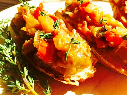 Easy Eggplant Caponata from Alexandersmom.com