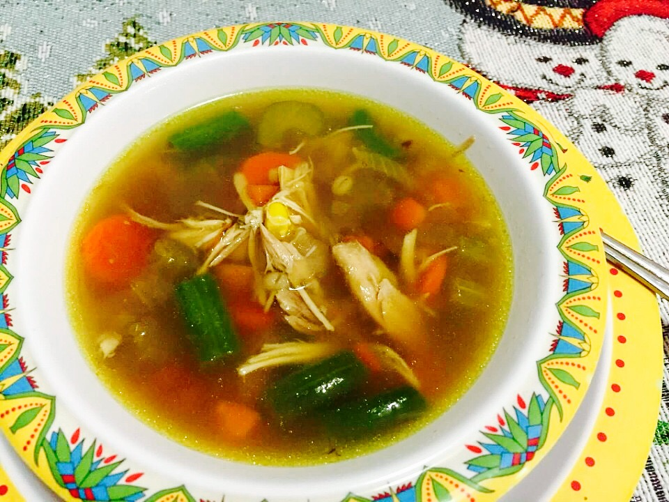 Vegetable Chicken Barley Soup from Alexandersmom.com