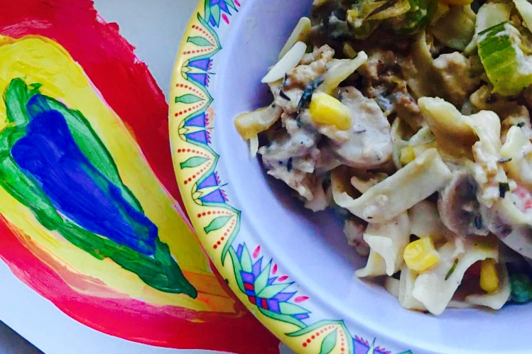 Tarragon Thyme Ground Chicken Casserole from Alexandersmom.com