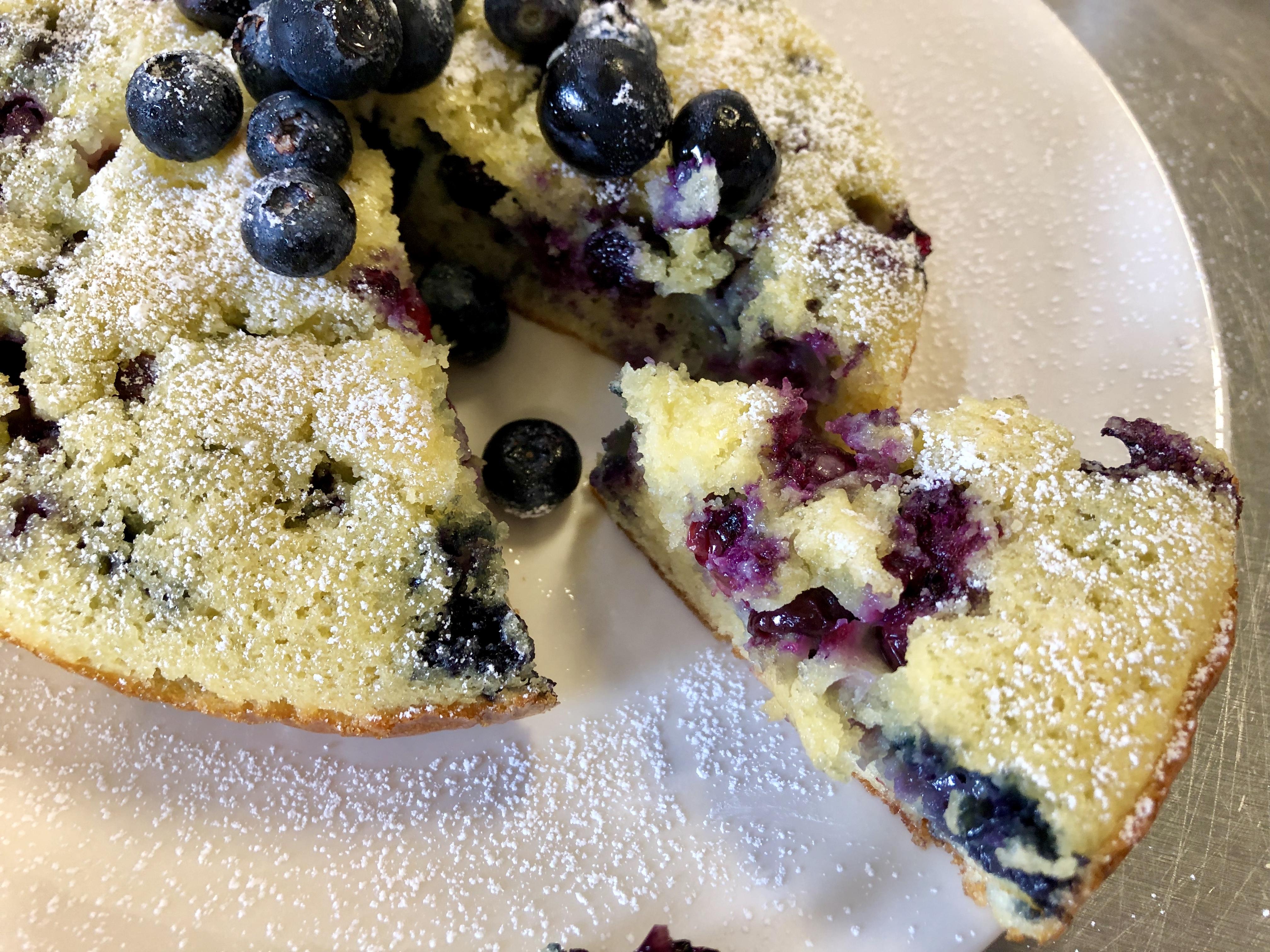Lemon Blueberry Breakfast Cake from Alexandersmom.com