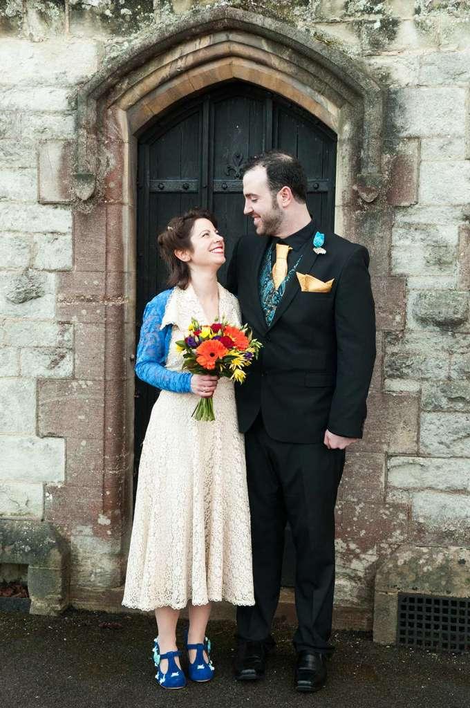 Jo and Sean in doorway