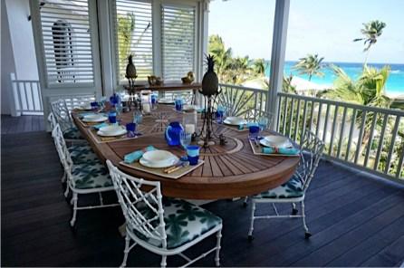 Upper terrace dining