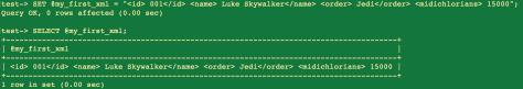 MySQL XML mal formatado