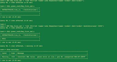 MySQL: Procedures e XML