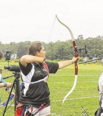 RIGHT ON TARGET: SOMERSET RESIDENT ALEXANDRIA MURPHY WON A GOLD MEDAL IN THE ARCHERY COMPETITION OF THE BAY STATE GAMES OVER THE WEEKEND.