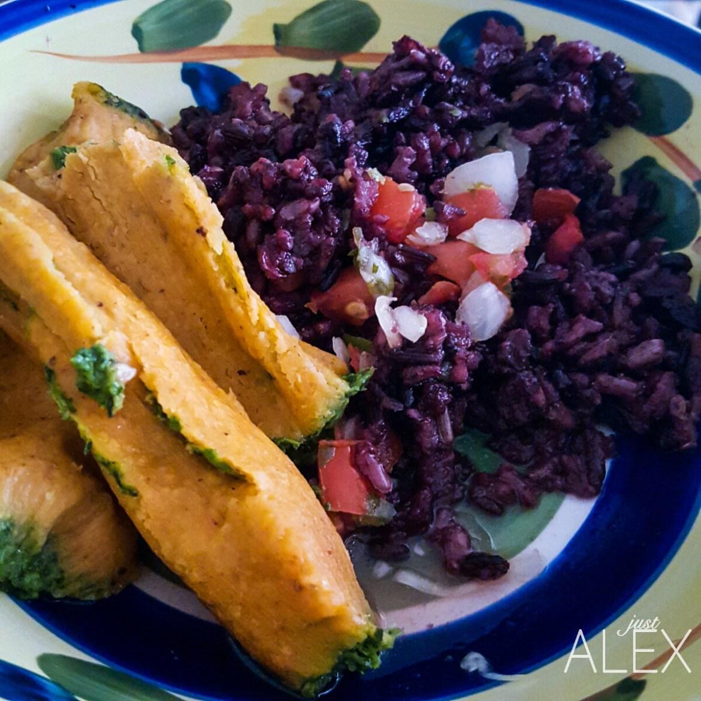 Vegetarian Tamales in 10 minutes quick food3