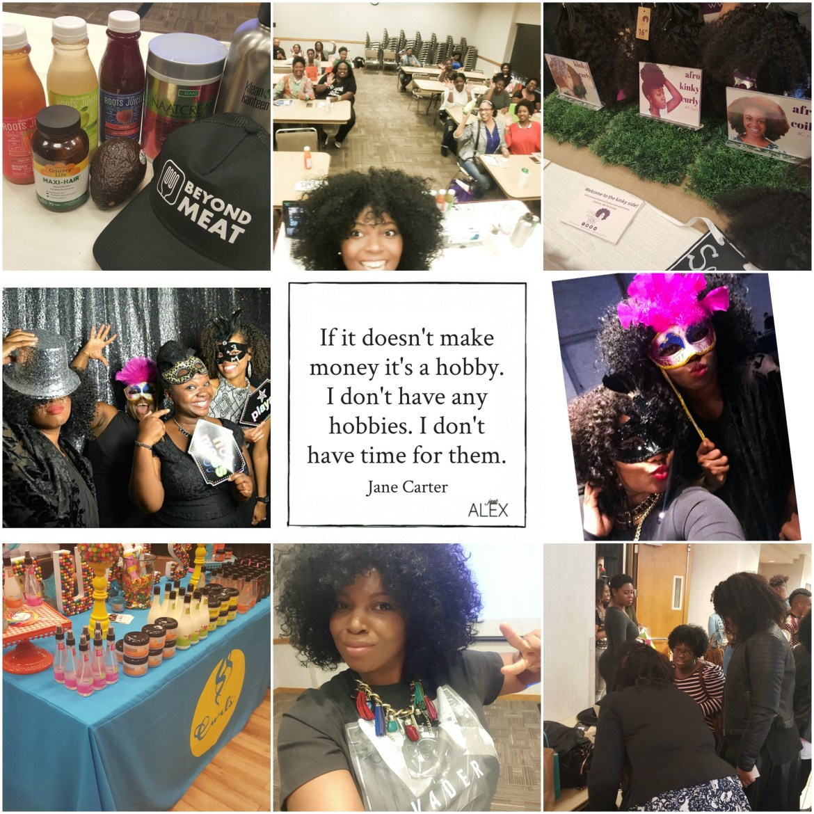 bella kinks natural hair expo dfw collage