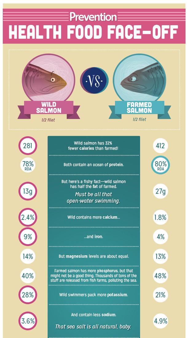 wild salmon vs farmed raised salmon