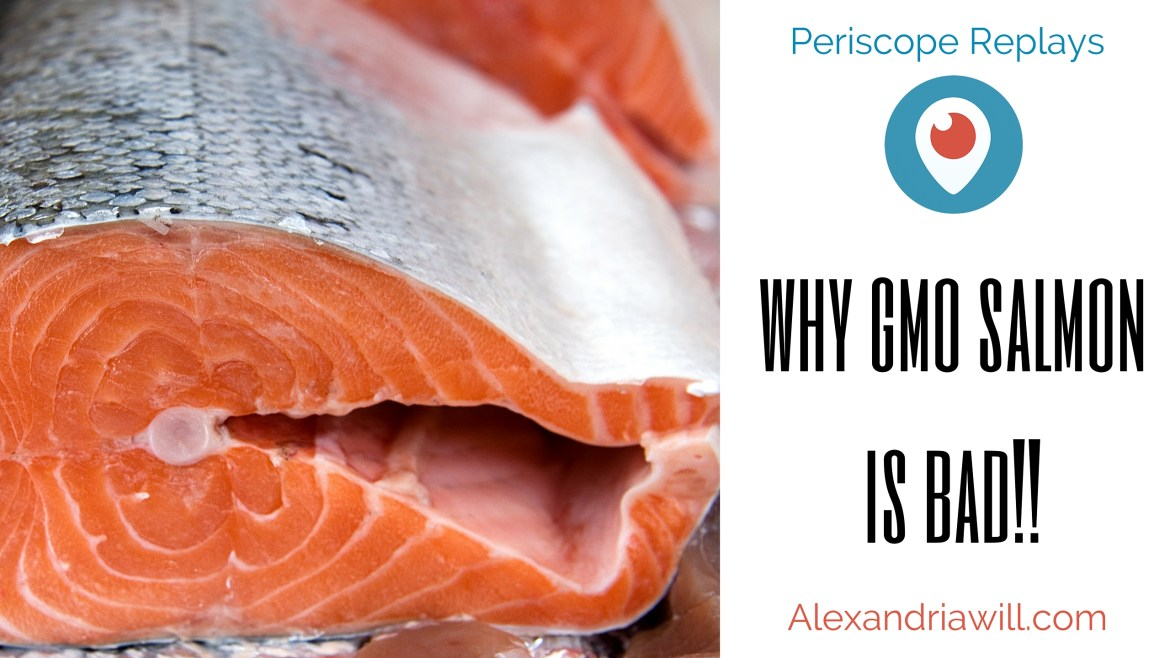 why gmo salmon is bad perioscope replay with fish