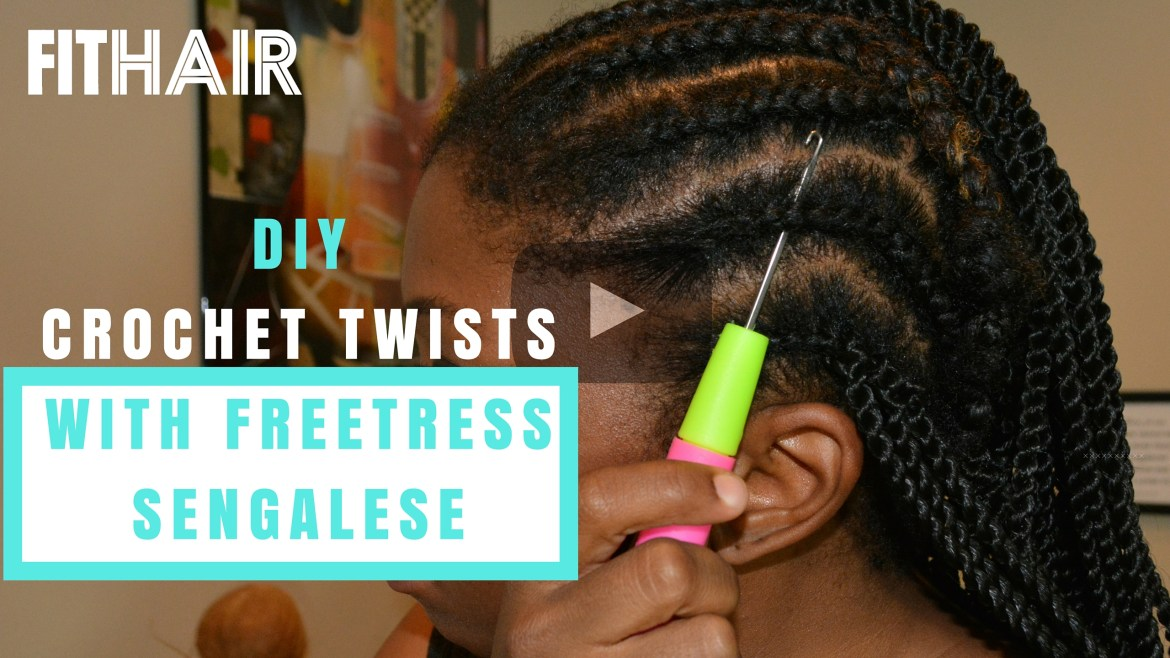 DIY CROCHET FREETRESS SYNTHETIC HAIR SENEGALESE TWIST youtube install