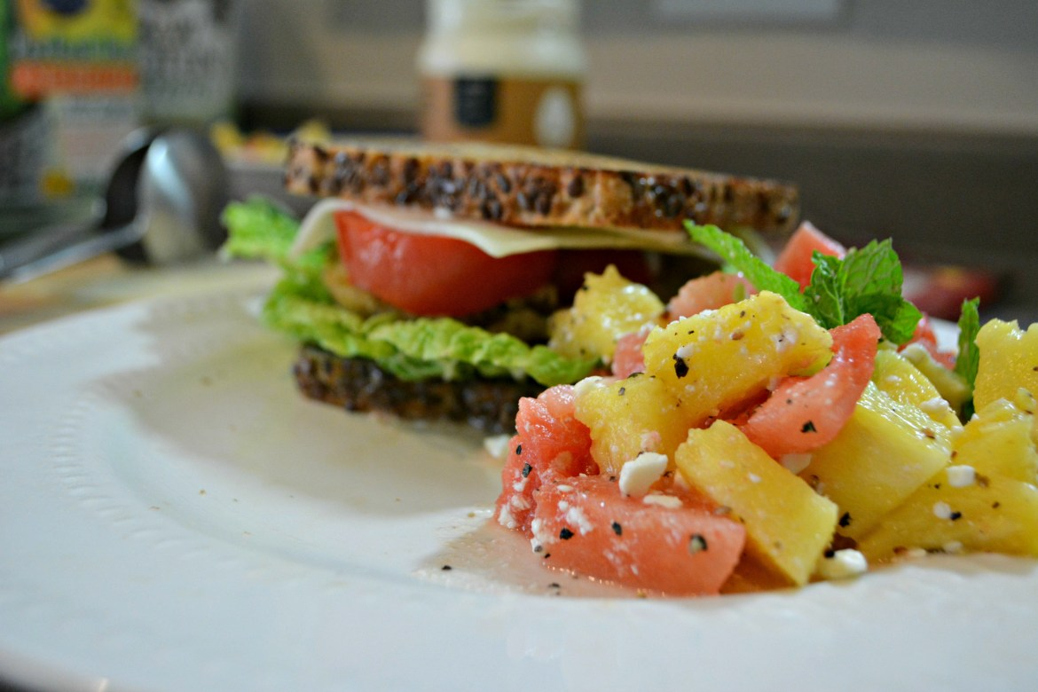 Summer sandwich and salad2a