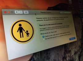 How to create an account on OS X with parental controls