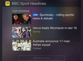 BBC Sport app now has a today widget