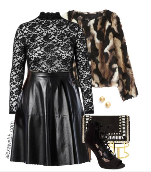 Plus Size Fashion - How to wear plus size leather skirts - Alexa Webb - alexawebb.com