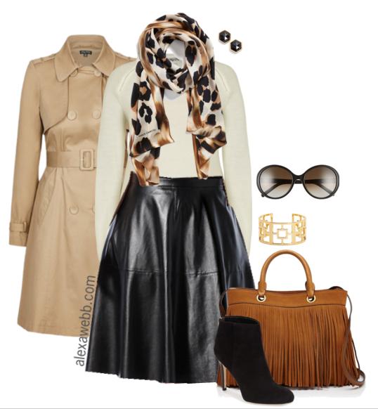 Plus Size Fashion - How to wear plus size leather skirts - Alexa Webb alexawebb.com